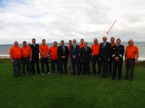Visite du nouveau Président à Ouistreham le 5 octobre 2013